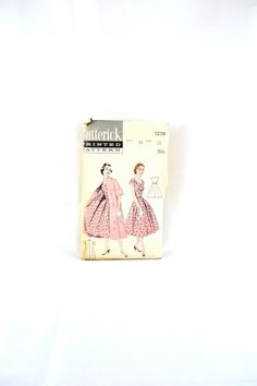 Hey, I found this really awesome Etsy listing at https://www.etsy.com/listing/199123164/1950s-vintage-butterick-pattern-7278