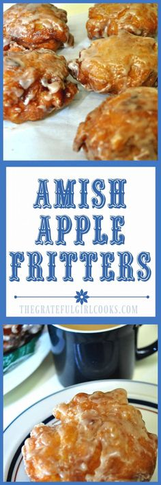 Long pin for Amish Apple Fritters / The Grateful Girl Cooks! spices in glaze