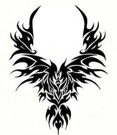 Phoenix and dragon tattoo   Like Tattoo
