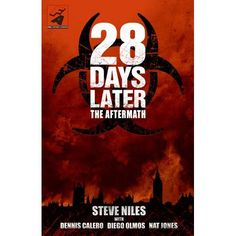28 Days Later: A graphic novel continuation of the popular film bridges the gap between the original movie and its sequel, in a volume of four interconnected stories that follows such storylines as the development of the Rage virus, survival battles within an infected cityscape, and the efforts to restore order in decimated London.
