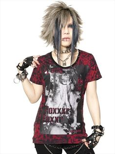 SKULL MARIA LEOPADR STUDS Cutsew (S) SA68250-103 SEX POT ReVeNGE APPAREL. See more at http://www.cdjapan.co.jp/apparel/ #punk #japanesefashion