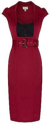 NEW LINDY BOP CHIC VINTAGE 1950s SECRETARY STYLE PENCIL WIGGLE DRESS WORK OFFICE
