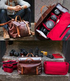 Roamographer Leather Camera Bag, by HoldFast