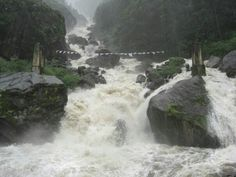 Raging monsoon river in Northern Sikkhim