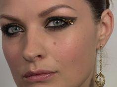 Makeup Tutorial: Gold Leaf eye makeup ala Emma Watson. http://imabeautygeek.com/wp-content/uploads/2011/07/Emma-Watson_Harry-Potter-NYC-premiere.jpg