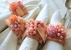 Napkin Fold by TinyCarmen Diy And Crafts, Paper Crafts, Napkin Folding, Event Decor, Event Ideas, Decoration Table, Pretty In Pink, Napkin Rings, Napkins