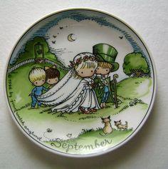 Vintage 1966 Joan Walsh Anglund September Wedding Collector Plate West Germany