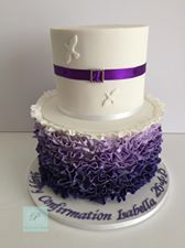 Congratulations to Isabella on her Confirmation today. I hope you are still partying!<br /> Two tiers of red velvet cake.