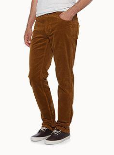 Le pantalon velours côtelé extensible Coupe étroite   Simons