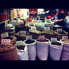 Spices everywhere. Love the arm size cinnamon from vietnam. #hongkong