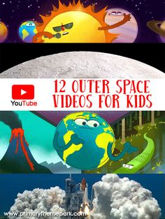 12 Outer Space Videos for Kids Kindergarten Science, Science Classroom, Teaching Science, Science Activities, Space Activities For Kids, Science Education, Physical Education, Outer Space Crafts For Kids, Space Theme Classroom