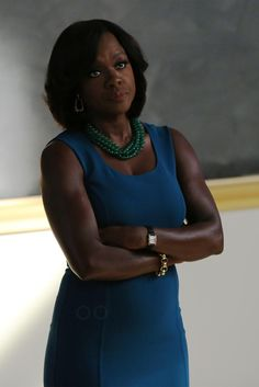 Annalise Keating wearing  Michael Kors Stretch Wool Crepe Dress