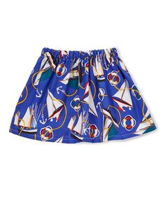 Royal Sailboat Circle Skirt - Infant & Toddler