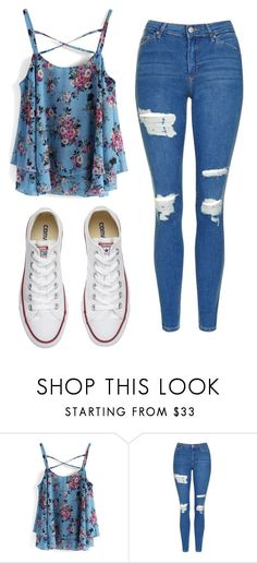 """Untitled #533"" by cuteskyiscute ❤ liked on Polyvore featuring Chicwish, Topshop and Converse"