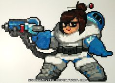 Overwatch Mei Perler Beads by kamikazekeeg