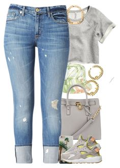 """Untitled #1403"" by power-beauty ❤ liked on Polyvore featuring H&M, Michael Kors, Hudson Jeans and NIKE"