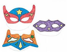 12 Colour In Superhero Masks for Kids Arts & Crafts | the littlecraftybugs company