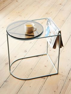 Grace is a contemporary plant stand or side table by Ivy Muse.