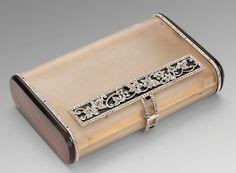 Boucheron A French Gold Boucheron Box Gold, Rock Crystal, Agate, Diamond & Onyx Paris, circa 1920 Signed Boucheron, Paris