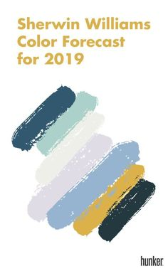 When it comes to color, 2018 is all about the pink and gray. But will these hues stick around for Don't worry, we have at least some of the answers thanks to Sherwin-Williams and Dunn-Edwards's newly released color forecasts for Bedroom Paint Colors, Interior Paint Colors, Paint Colors For Home, House Colors, Interior Painting, Paint Colours, Yoga Studio Design, Dark Interiors, Colorful Interiors