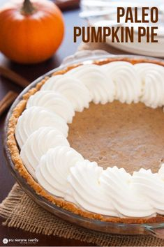 The crust for this Paleo pumpkin pie is super easy to make and involves only a few ingredients. The pumpkin custard is firm and full of autumn spice! The topping is made of a slightly honey sweetened coconut cream that goes so nicely with the almond crust.