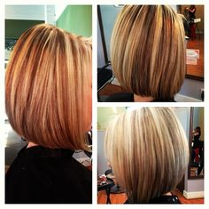 bob hair cut #highlights#lowlights