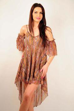 Rochie de vara RVL, asimetrica. Cover Up, Cold Shoulder Dress, Bohemian, Dresses, Style, Fashion, Vestidos, Swag, Moda