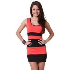 What are you wearing out tonight?  #colorblock #bodycon