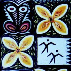 Conserve for Tomorrow 1990 / 2000 Oil on board, wood, ceramics, sennit 200 x 742 cm Polynesian Art, Moana, Conservation, Art Designs, Artworks, Oil, Artists, Ceramics, Tattoo