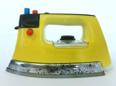 Vintage Retro Plastic Toy Pretend Iron 1970's. If only we realised how boring it would be to iron for real