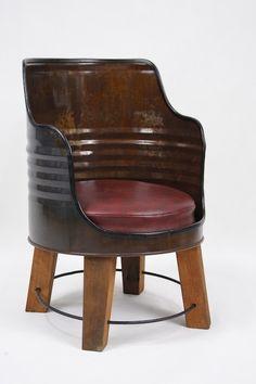steel barrel furniture - Google Search