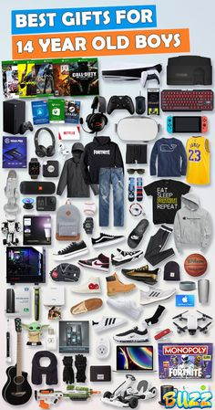See 100+ teen boy gifts for 14 year old boys. Discover COOL and unique gifts for Birthdays, Christmas, and other occasions for your 14 year old teen boy. #birthdaygifts #christmasgifts Teen Boy Birthday Gifts, Birthday Presents For Teens, Teen Presents, Birthday Party For Teens, Birthday Gifts For Boyfriend, Boyfriend Gifts, Birthday Ideas, Funny Boyfriend, Husband Birthday