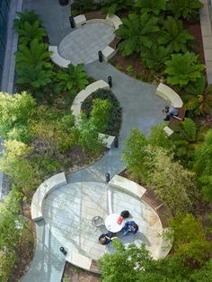 Kaiser Special Medical Office Courtyard - Another! Architecture Courtyard, Courtyard Design, Landscape Architecture Design, Landscape Elements, Urban Landscape, Landscaping Tips, Garden Landscaping, Poket Park, Design Cour