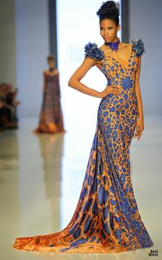 Fouad Sarkis Spring and Summer 2014 Haute Couture - Arabia Weddings African Inspired Fashion, African Print Fashion, Africa Fashion, African Prints, African Attire, African Dress, African Style, Trendy Ankara Styles, Prom Girl Dresses