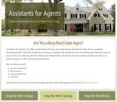 Responsive design for Assistants for Agents. Congrats on their new site, really enjoyed designing it.