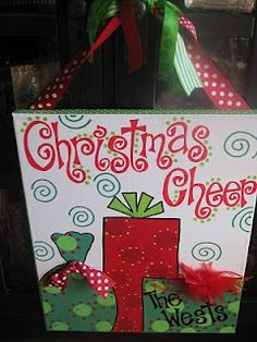 Personal Pizazz by Lindsey: Christmas Christmas Signs, Christmas Projects, Christmas Art, Winter Christmas, Holiday Crafts, Holiday Fun, Christmas Decorations, Christmas Ideas, Grinch Christmas
