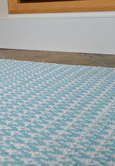 Ashley Eco Cotton Rug - Light Blue / White - Hook & Loom