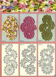 Receitas de Crochet: Braceletes de crochet  crochet bracelets diagram