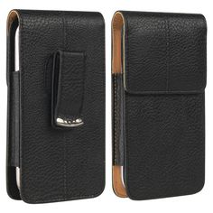 This is an Insten Black/ Brown universal vertical leather case. Protect your cell phone against bumps and scratches with this case.