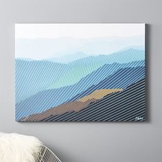 """Shop blue ridged print.   """"Over the span of 10 years, I traveled the world as a musician.  I found the Blue Ridge Appalachian mountains to be the most mind-blowing range of all,"""" says artist Brett Whitacre."""