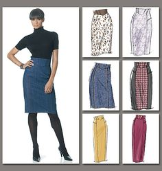 Vogue Easy Options - High waisted skirt pattern