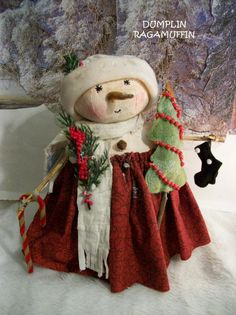 PatternSewingSnowmanChristmas and winter decor original by image 1 Primitive Doll Patterns, Primitive Crafts, Primitive Christmas, Felt Christmas, Christmas Snowman, Christmas Projects, Christmas Ornaments, Christmas Ideas, Primitive Snowmen