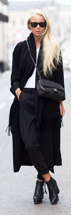 Black And White Modern Chic Outfit Idea