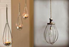 Whisks as Light Fixtures: Remodelista
