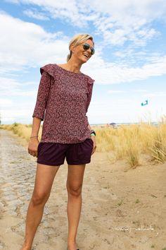 Pruella.de - Bluse FrauSmilla von Hedinaeht aus Viskose und Jersey-Shorts #julika (eigentlich ein Jumpsuit) von Prülla