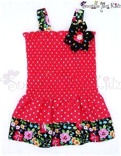 """Brand New """"Strawberry Blast"""" party dresses by Snuggle Bug Kidz"""