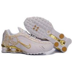 best value c147e f7fc4 2014 Nike Shox R4 Shoes Womens White Gold 480712 Nike Shox For Women, Mens  Nike