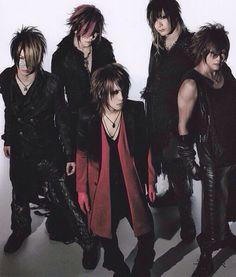 Reita, Aoi, Ruki, Uruha and Kai, the GazettE.