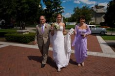 Pictures - Welcome to our Wedding Bio! **walking with parents**