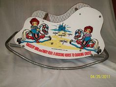 Rare Vintage Raggedy Ann and Andy Rocking Horse via Etsy.